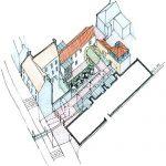 Courtyard Axonometric Sketch